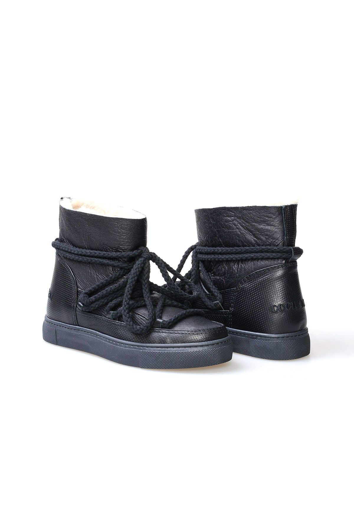 Cool Moon Genuine Sheepskin Women Sneaker 355026 Black