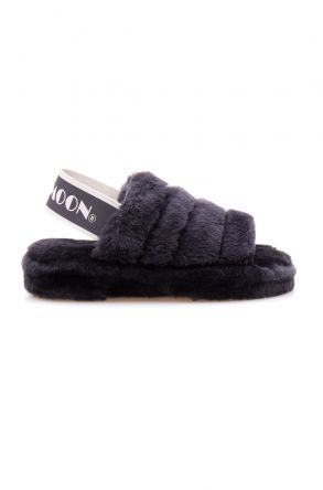 Cool Moon Genuine Sheepskin Women's Slippers 212501 Dark Gray