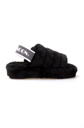 Cool Moon Genuine Sheepskin Women's Slippers 212501 Black