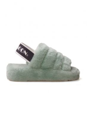 Cool Moon Genuine Sheepskin Women's Slippers 212501 Mint