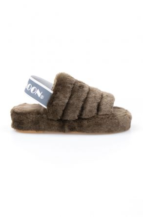 Cool Moon Genuine Sheepskin Women's Slippers 212501 Khaki