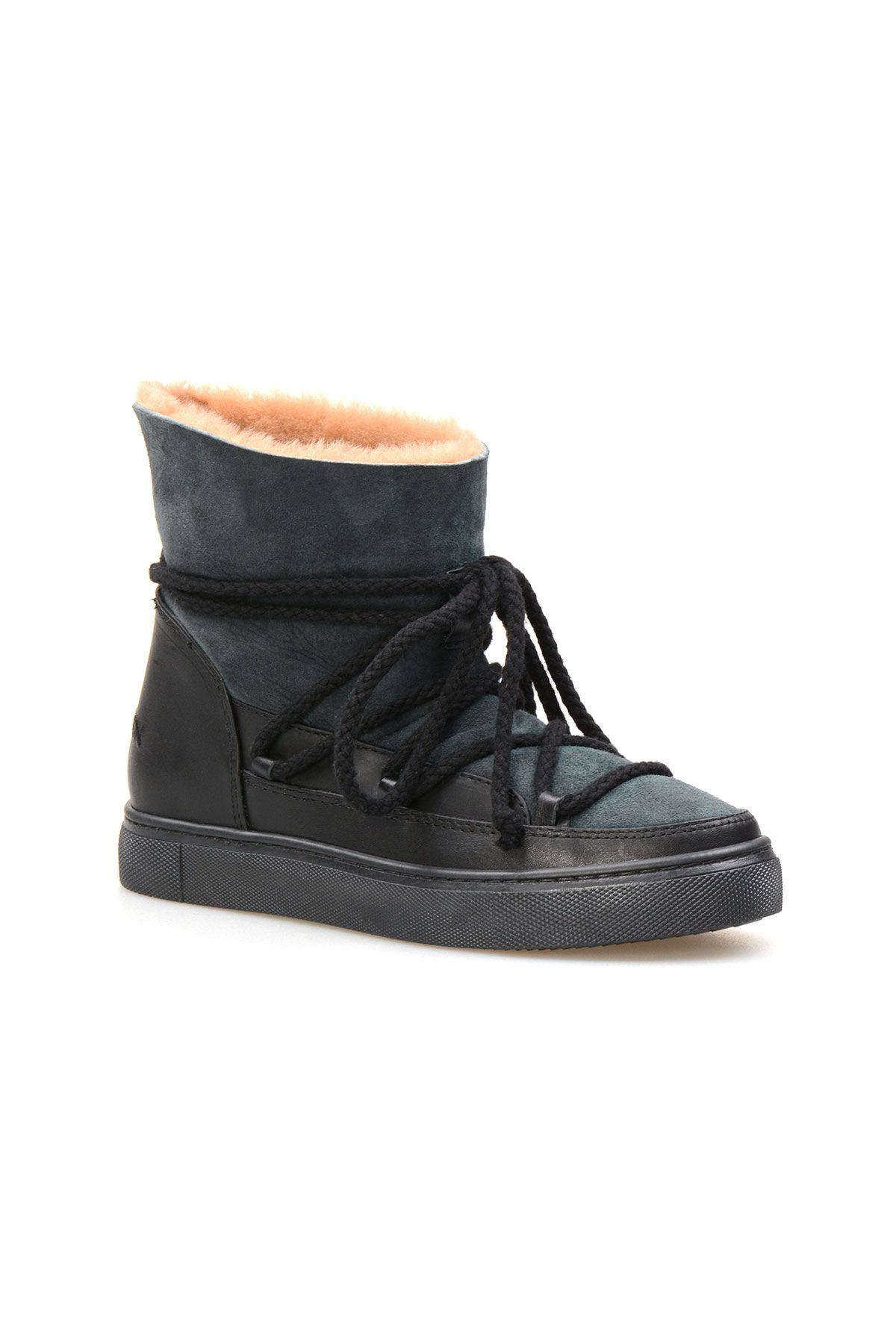Cool Moon Genuine Suede Shearling Lined Women's Sneaker 355050 Mint