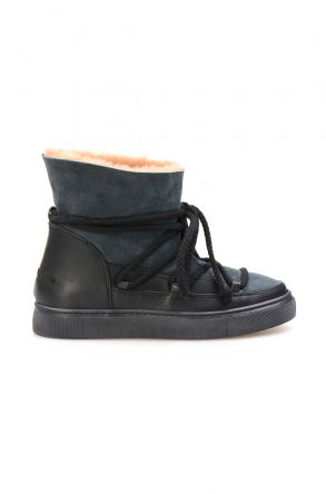 Cool Moon Genuine Suede Shearling Lined Women's Sneaker 355050 Mint