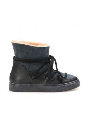 Cool Moon Hakiki İçi Kürk Bayan Sneaker 355050 Mint