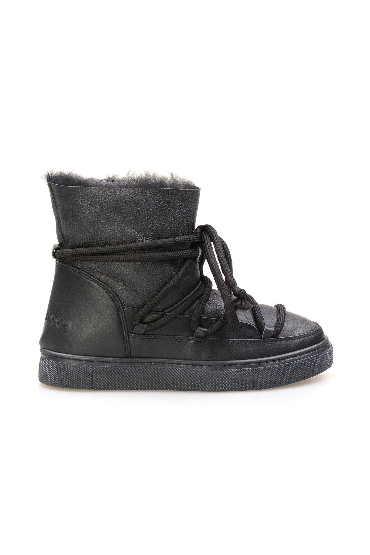 Cool Moon Genuine Shearling Lined Women's Sneaker 355056 Black