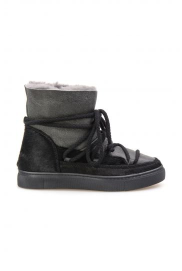 Cool Moon Genuine Shearling Lined Women's Sneaker 355058 Black