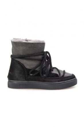 Cool Moon Hakiki İçi Kürk Bayan Sneaker 355058 Siyah