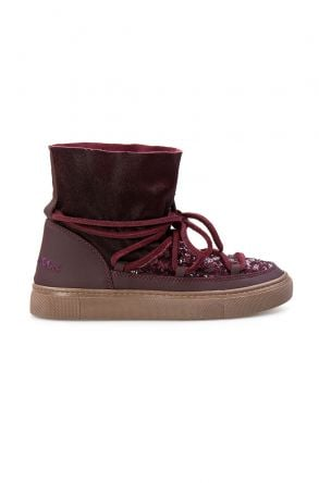 Cool Moon Genuine Leather Women Sneaker CM1019 Claret red
