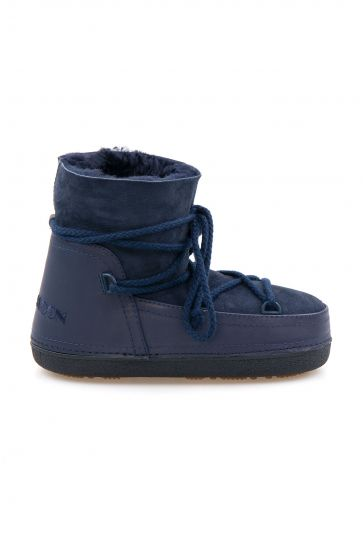 Cool Moon Genuine Sheepskin Women Snow Boots 251001 Navy blue