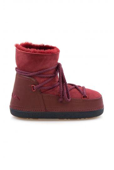Cool Moon Genuine Sheepskin Women Snow Boots 251001 Claret red