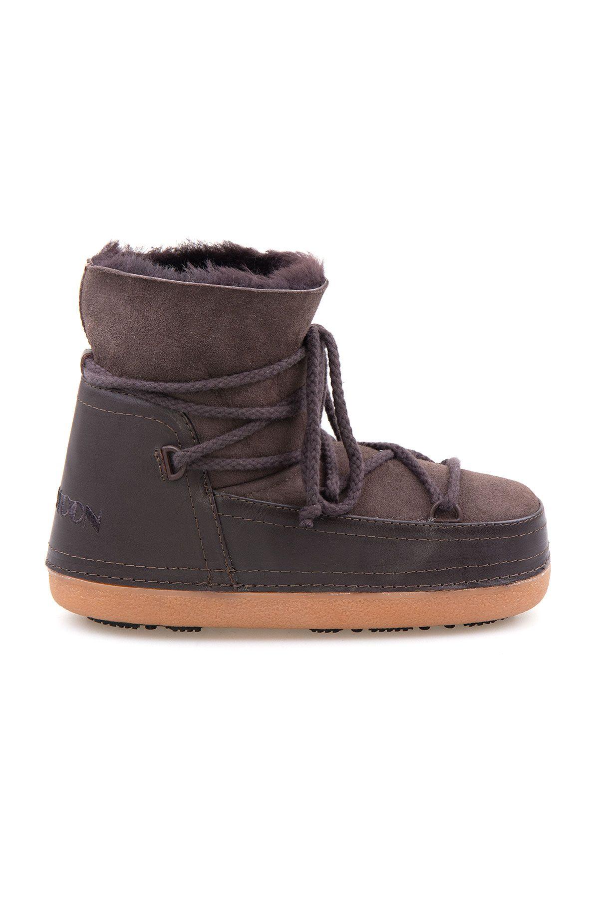 Cool Moon Genuine Sheepskin Women Snow Boots 251001 Brown