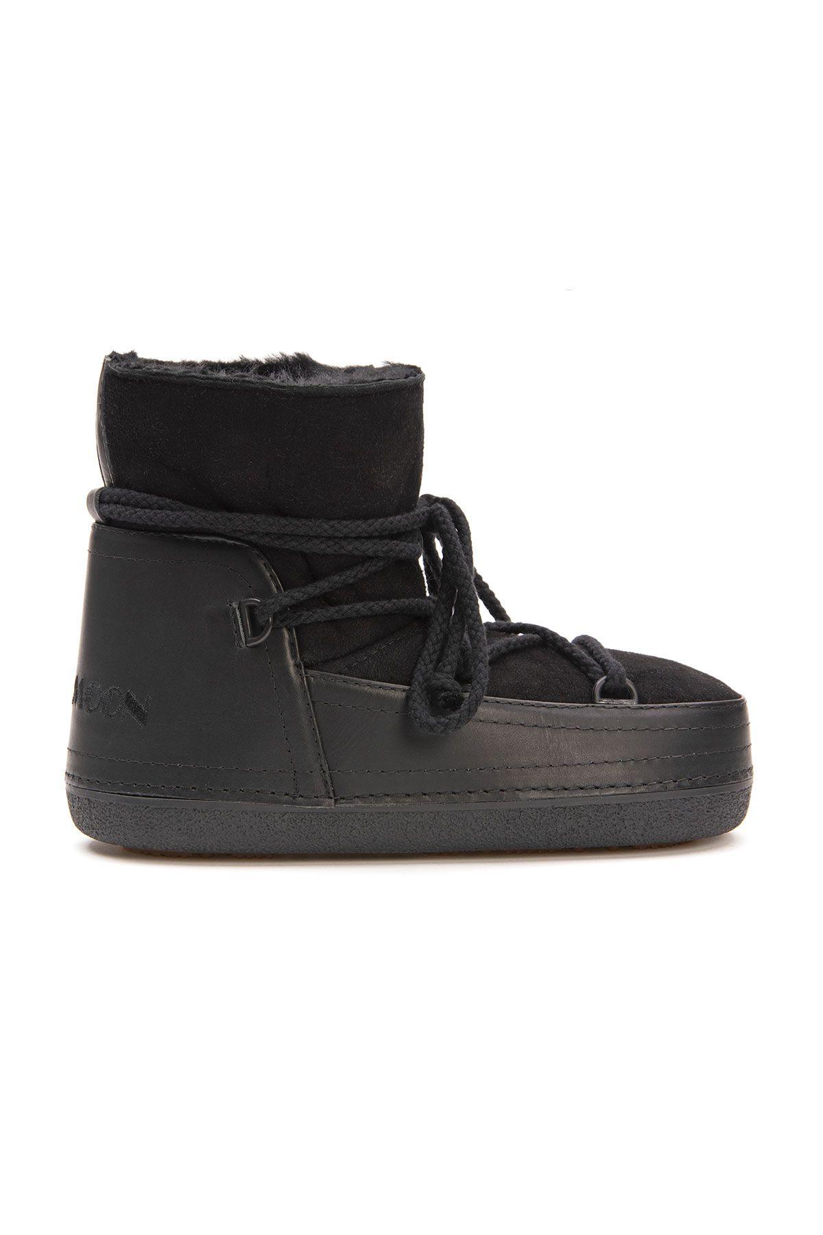 Cool Moon Genuine Sheepskin Women Snow Boots 251001 Black