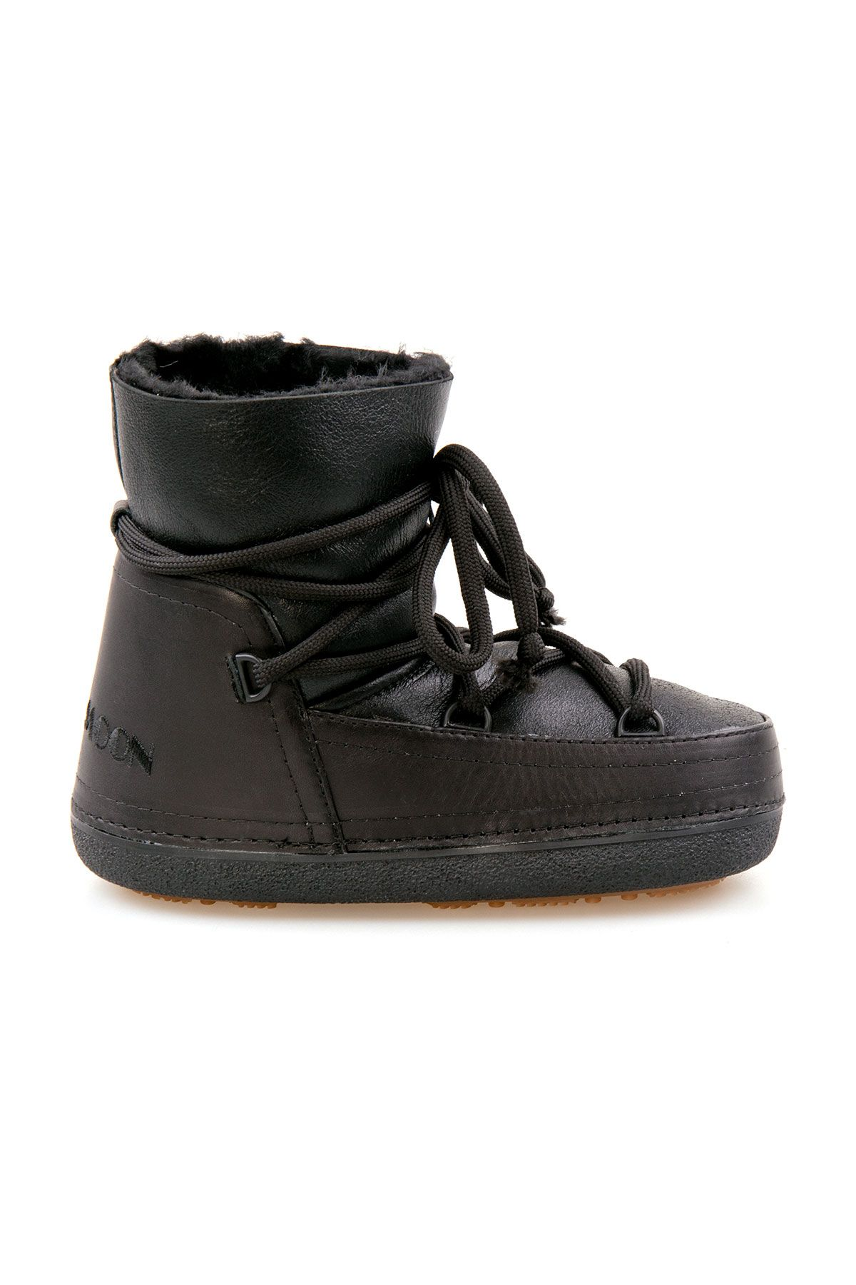 Cool Moon Genuine Leather Sheepskin Snow Boots 351014 Black