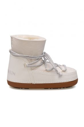 Cool Moon Genuine Leather Sheepskin Snow Boots 351014 White