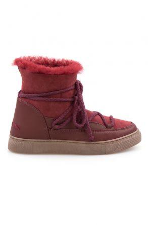 Cool Moon Hakiki İçi Kürk Bayan Sneaker 355050 Bordo