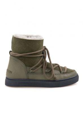 Cool Moon Hakiki İçi Kürk Bayan Sneaker 355050 Haki