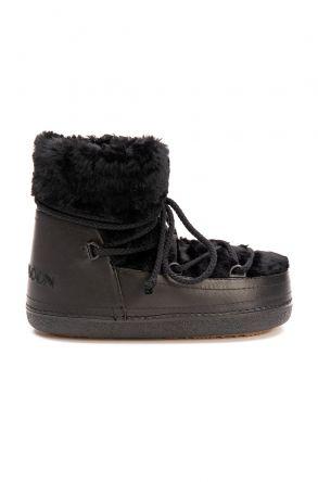 Cool Moon Genuine Sheepskin Women's Snow Boots 251211 Black