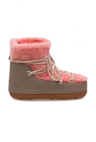 Cool Moon Genuine Sheepskin Women's Snow Boots 251300 Pink