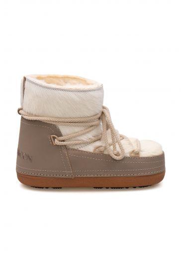Cool Moon Genuine Sheepskin Women's Snow Boots 251316 Beige