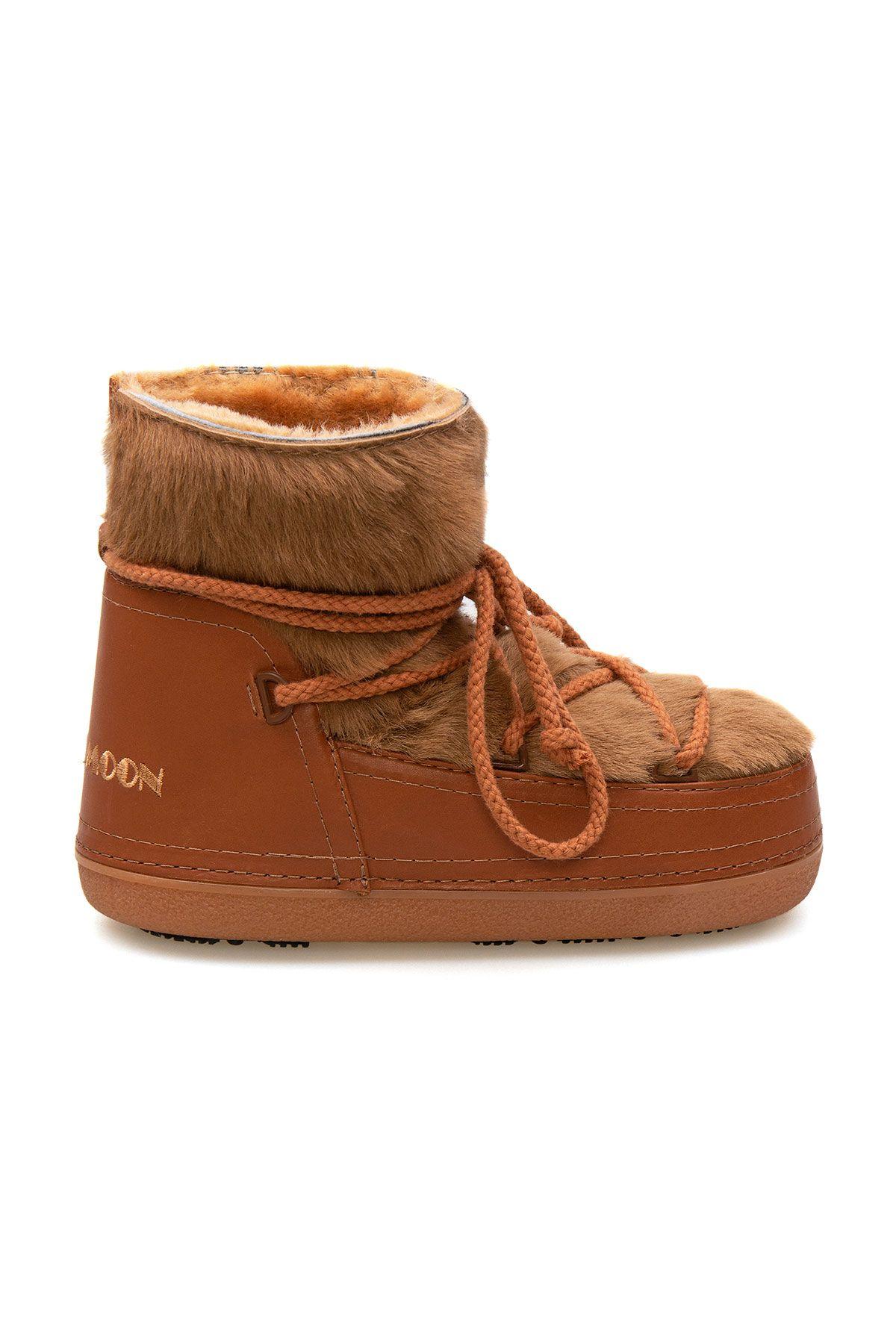 Cool Moon Genuine Sheepskin Women's Snow Boots 251329 Ginger