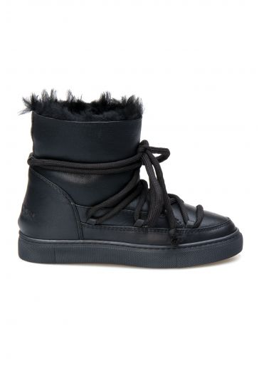 Cool Moon Genuine Sheepskin Women's Sneaker 355060 Black