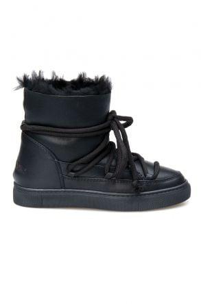 Cool Moon Hakiki Kürklü Kadın Sneaker 355060 Siyah