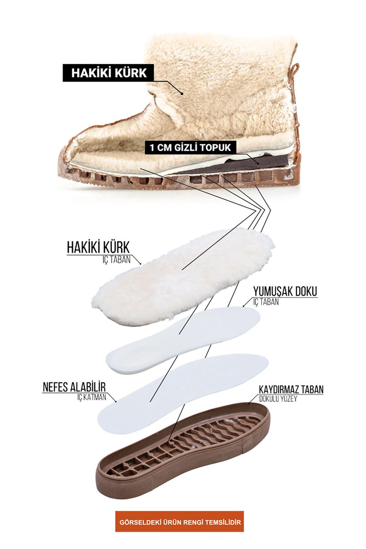 Cool Moon Genuine Sheepskin Women's Sneaker 355060 Black