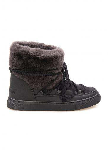 Cool Moon Genuine Sheepskin Women's Sneakers 355061 Black