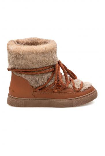 Cool Moon Genuine Sheepskin Women's Sneakers 355062 Ginger
