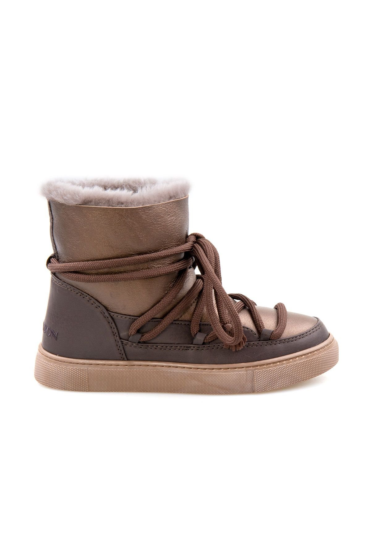 Cool Moon Genuine Sheepskin Women Sneakers 355108 Brown