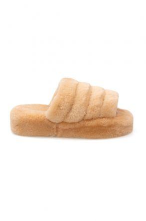 Cool Moon Genuine Sheepskin Slippers 212510 Ginger
