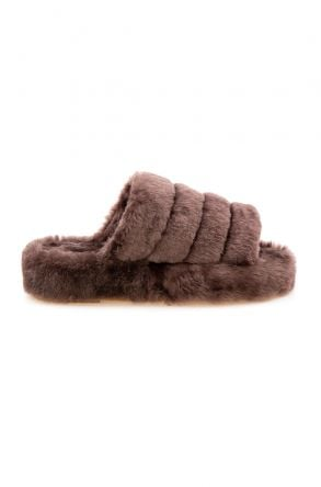 Cool Moon Genuine Sheepskin Slippers 212510 Brown