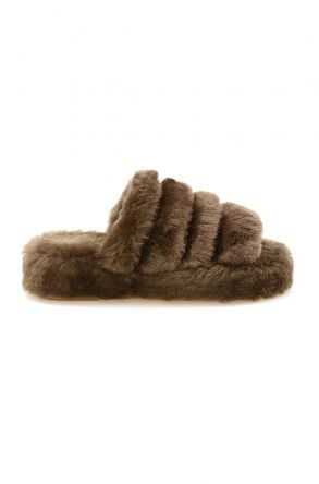 Cool Moon Genuine Sheepskin Slippers 212510 Khaki