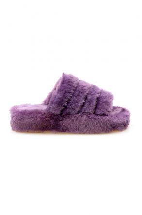 Cool Moon Genuine Sheepskin Slippers 212510 Purple