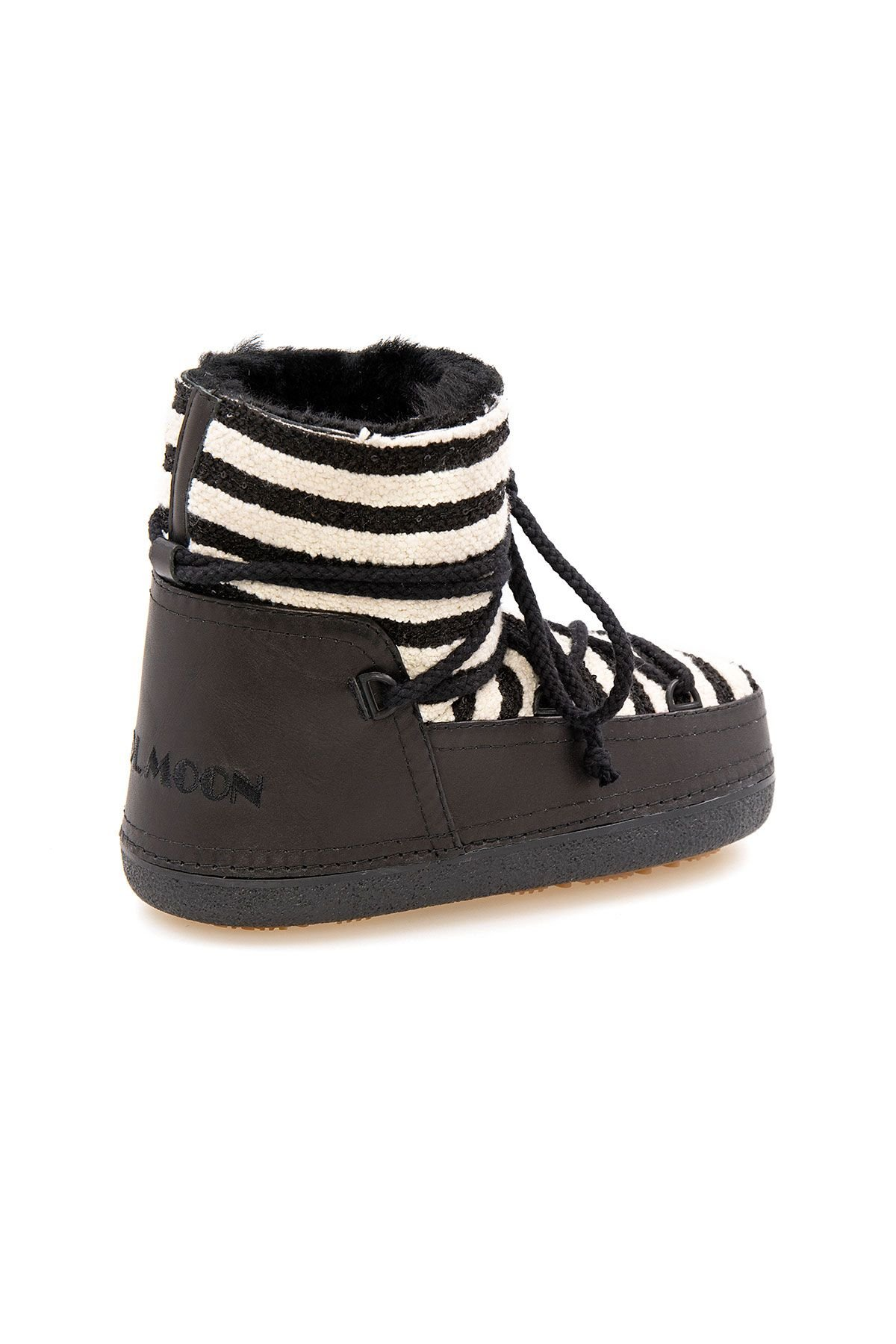 Cool Moon Genuine Sheepskin Lined Women's Snow Boots 251301 Black