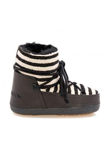 Cool Moon Genuine Sheepskin Lined Women's Snow Boots 251301 Black