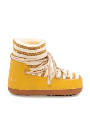 Cool Moon Genuine Sheepskin Lined Women's Snow Boots 251301 Yellow