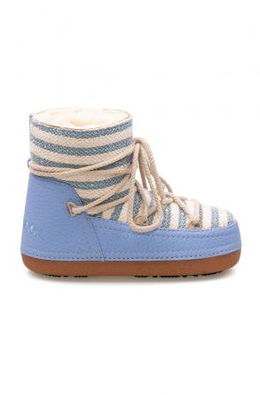 Cool Moon Genuine Sheepskin Lined Women's Snow Boots 251301 Blue
