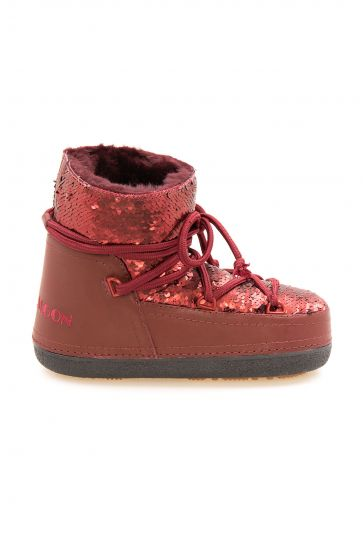 Cool Moon Genuine Sheepskin Lined Women's Snow Boots 251303 Claret red