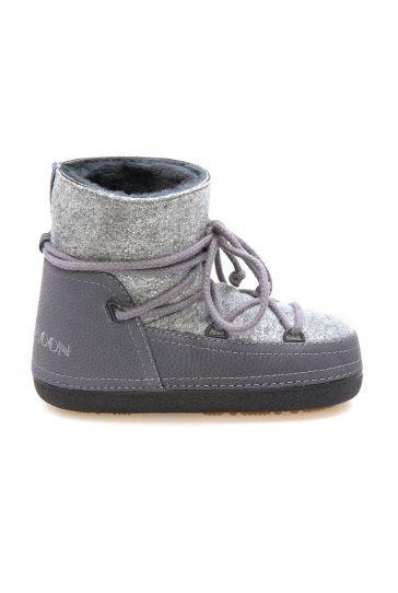 Cool Moon Genuine Sheepskin Lined Women's Snow Boots 251304 Gray