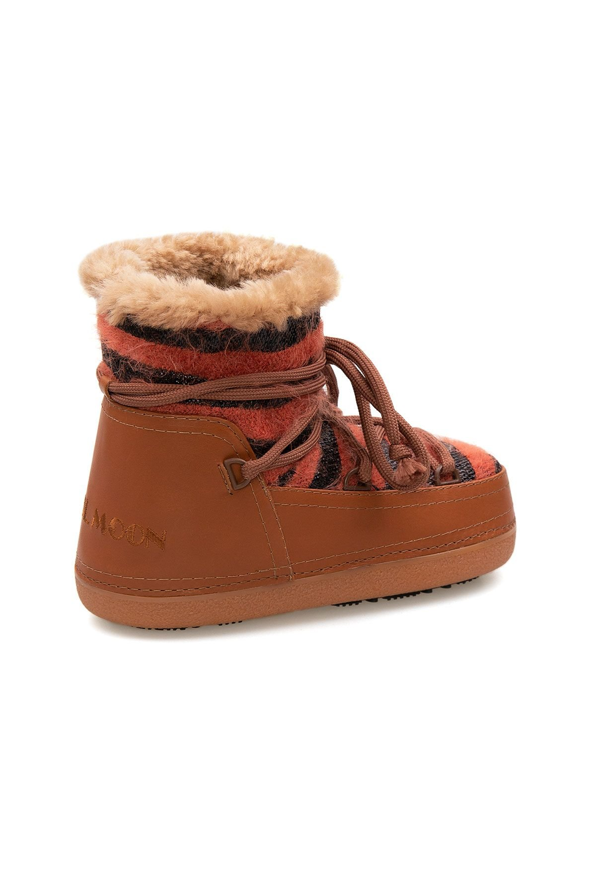 Cool Moon Genuine Sheepskin Lined Women's Snow Boots 251305 Ginger