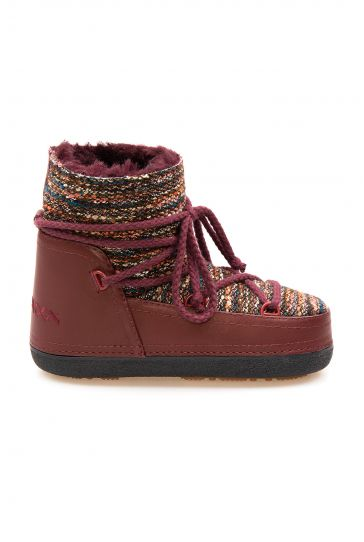 Cool Moon Genuine Sheepskin Lined Women's Snow Boots 251307 Claret red