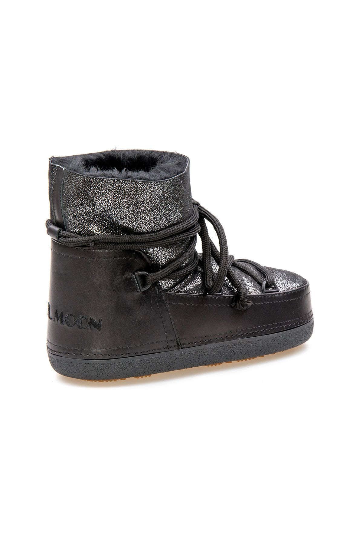 Cool Moon Genuine Sheepskin Women's Snow Boots 251308 Black