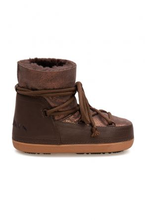 Cool Moon Genuine Sheepskin Women's Snow Boots 251308 Brown