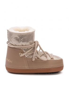 Cool Moon Genuine Sheepskin Women's Snow Boots 251308 Beige