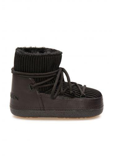 Cool Moon Genuine Sheepskin Lined Women's Snow Boots 251309 Black