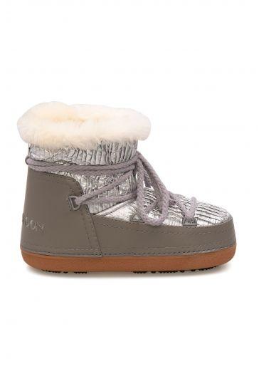 Cool Moon Genuine Sheepskin Lined Women's Snow Boots 251310 Gray