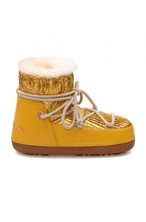 Cool Moon Genuine Sheepskin Lined Women's Snow Boots 251310 Yellow