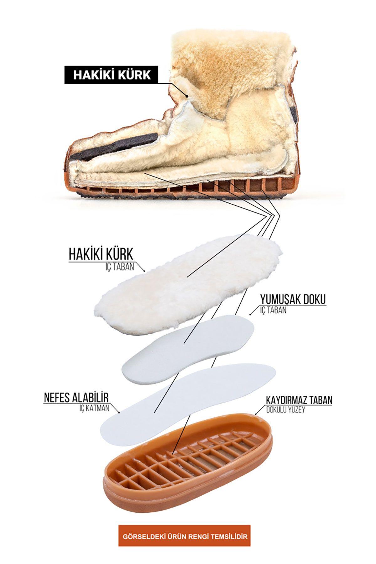 Cool Moon Genuine Sheepskin Lined Women's Snow Boots 251311 Green