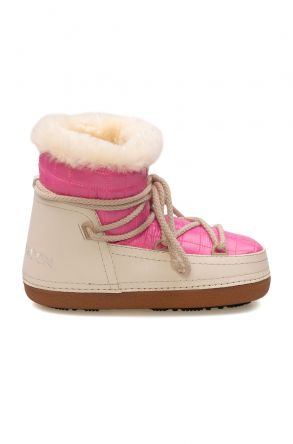 Cool Moon Genuine Sheepskin Lined Women's Snow Boots 251311 Pink